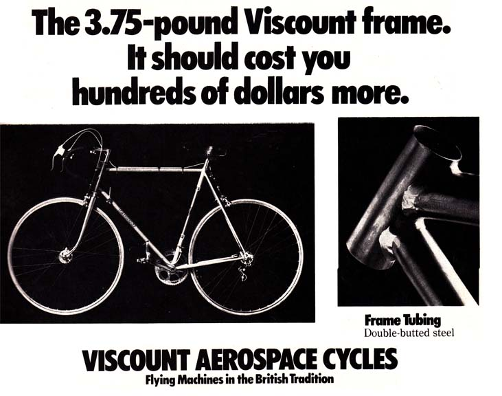 Steel Bike Frames In The 1970u0027s Were Advertised In Bicycle ...