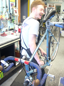 Jeremy, mechanic at R+E Cycles