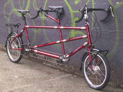 Rodriguez Custom Tandem with 14 couplings and Rohloff Speedhub